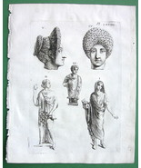1756 Antique Print #68 - Roman Antiquities Wome... - $7.43