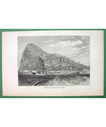 CANADA View of Prescott - 1840s Antique Print b... - $7.43