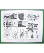 STEAMSHIPS Steam Engines Propellers - 1870s SUP... - $23.76