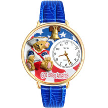 Patriotic Teddy Bear Watch w/ Personalized Miniature Gifts - $40.74+