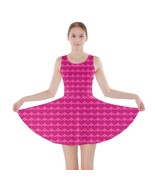 Pink Love Hearts Modern A-Line Skater Dress - Size and Sleeve Options - $29.09+