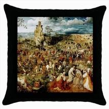 Procession To Calvary Pieter Bruegel Throw Pillow Case - $16.44