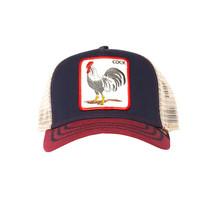 Goorin Bros Snapback Mesh Cap Animal Farm Trucker Hat Navy All American