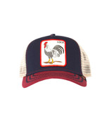 Goorin Bros Snapback Mesh Cap Animal Farm Trucker Hat Navy All American - $32.66