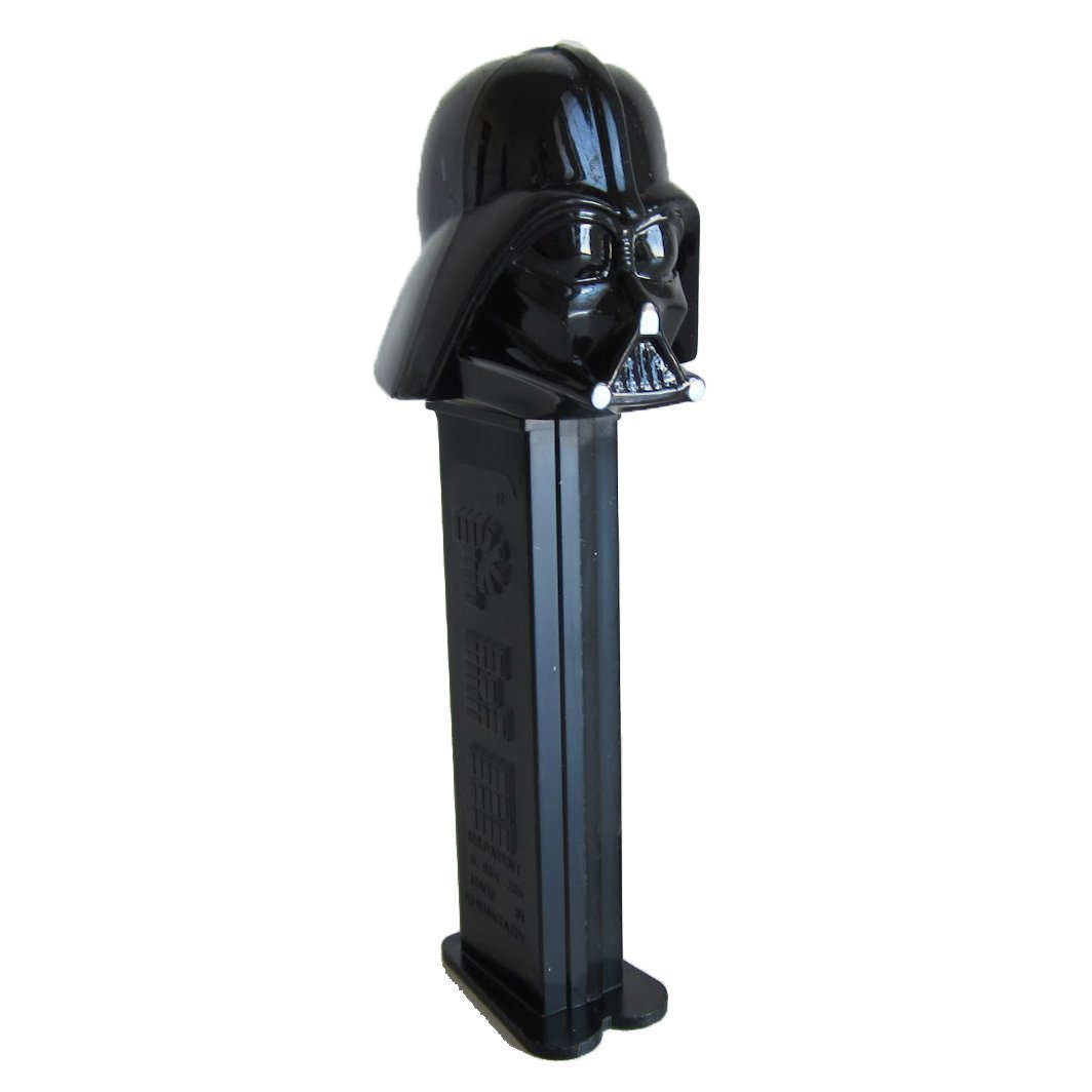 Brand New and Sealed red pack PEZ: Star Wars Darth Vader black stick
