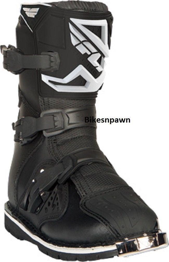 New Fly Racing Maverik Adult Size 9 Shorty Dual Sport ATV Black Boots 364-66609