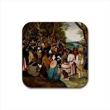 Sermon of St John Pieter Bruegel Non-Slip Drink/Beer Coaster Set - $6.74