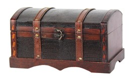 Leather Wooden Chest - $37.12