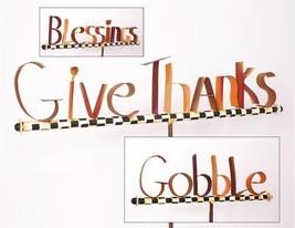 Round Top Thanksgiving Words Outdoor Garden Sta... - $79.48