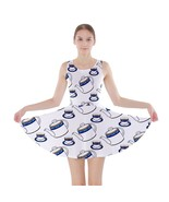 Teapots Teacups Modern A-Line Skater Dress - Size and Sleeve Options - $29.09+