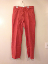 FDJ French Dressing Women's Size L Chino Pants Terracotta Coral Red Cotton Blend