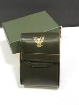 Vtg Leather Military Cigarette Case Pouch Belsic Prod NY Eagle Box BEL C... - $47.52