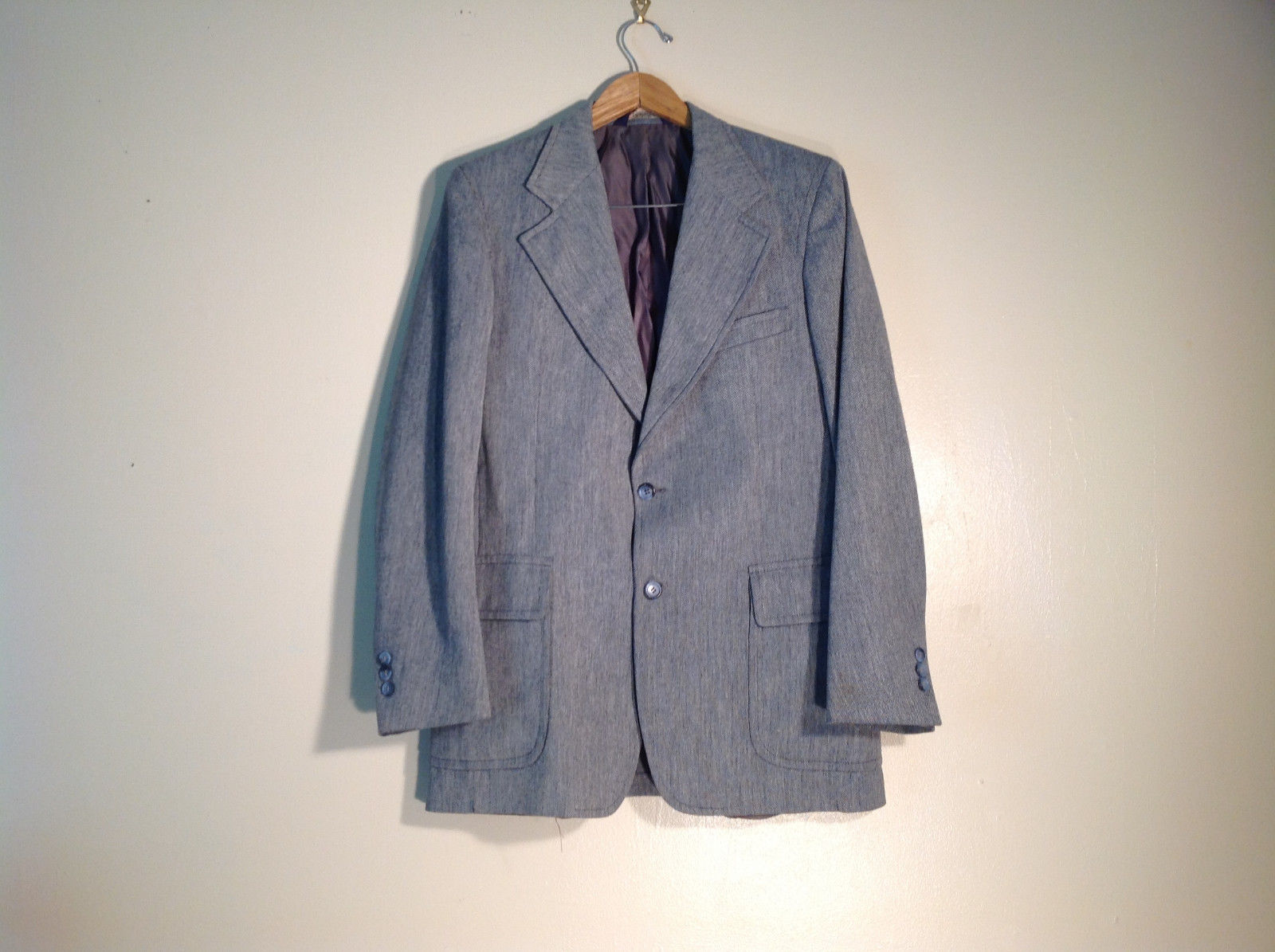 Mens Light Grey Blazer PBM Made in USA Excellent