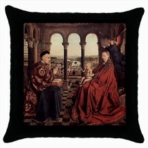The Virgin Of Ivers Jan Van Eyck Throw Pillow Case - $16.44