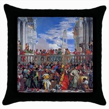 The Wedding At Cana Paolo Veronese Throw Pillow Case - $16.44