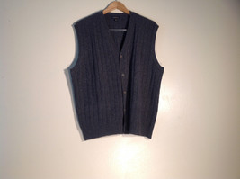 Womens Club Room Size XL Vest, 100% wool, gray-black, excellent