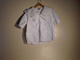 Womens D. D. Designs White Short Sleeve Shirt Stitchery Size 22/24
