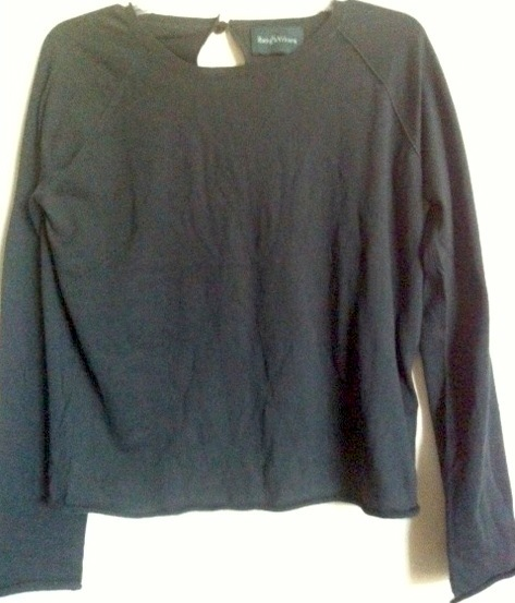 ZADIG & VOLTAIRE France designer SWEATER teardrop back w/ cameo closure NEW $300