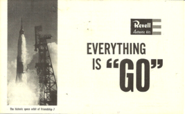 """1962 REVELL MODELS """"EVERYTHING IS GO"""" MERCURY FRIENDSHIP 7 INFORMATIONAL... - $18.99"""