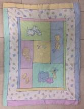 Just Born Baby Quilt Blanket Pastel Animals Sunshine - $19.24