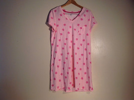 Womens Pink Floral Size L Gown/Sleepwear