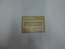 1987 Suzuki Ls650 Owners Manual Faded Discolored Factory Oem Book 87 *** - $18.97