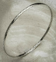 Small .925 Sterling Silver Braided Bangle Bracelet - $25.00