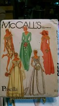 1981 Vintage PRISCILLA Bridal Wedding Bridesmaid Gown McCalls Pattern 73... - $6.79