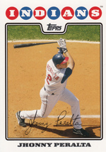 Jhonny Peralta 2008 Topps Series 2 Card #336 - $0.99