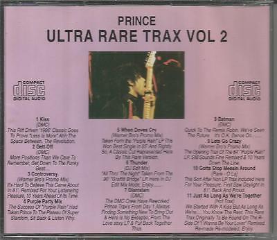 Prince Ultra Rare Trax Vol 2 Cd Promos Remixes Import
