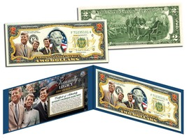 KENNEDY BROTHERS LEGACY Colorized $2 Bill US Legal Tender ROBERT & TED &... - $13.95