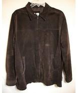 BLOOMINGDALES Brown Suede Jacket Leather Car Coat Zip Up Lined Women Lar... - $59.39