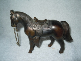 Vintage USA Bronze Western Horse Figure - $9.99