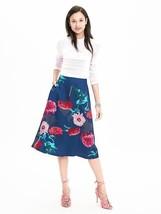 Banana Republic Gerber Daisy Midi Skirt, size 12, NWT - $84.99