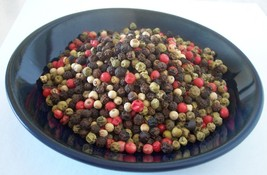 WHOLE PEPPERCORNS RAINBOW MIXED 4 COLOR  2,4,8,16,32 OZ  RESEALABLE BAG - $6.89+