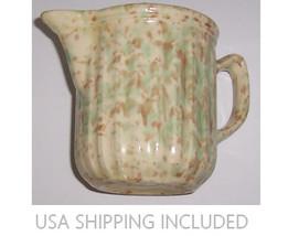 Yellow Ware Pitcher Morton Pottery Company Wood... - $75.00