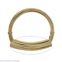 ALUMINUM CRAFT Jewelry WIRE GOLD 45 ft ~ 18 Gauge ~ Light + Flexible Non... - $5.85
