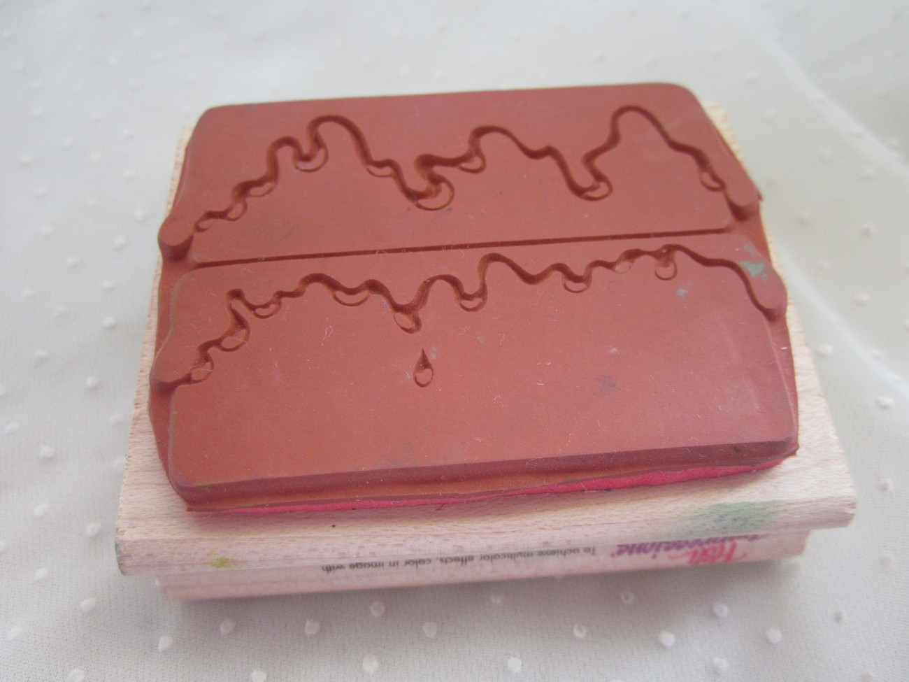 Posh Impressions Icing on the Cake Layer Cake Rubber Stamper Stamp