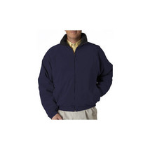 NEW UltraClub Adult Ultra-Soft Microfiber Fleece-Lined Jacket. Navy Blue... - $49.99