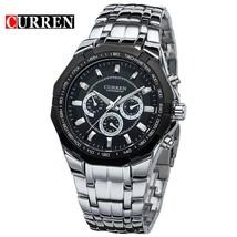 CURREN Men Stainless Steel Wristwatch Waterproof Wrist Watch Fashion Business Sp - $38.14