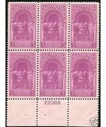1939 3cent #854 Plate Block of 6 unused - $6.62