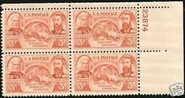 1948 3cent #964 Plate Block of 4 unused - $2.45