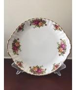 Royal Albert Cake Plate Old Country Rose Serving Dessert Tableware Porce... - $32.36