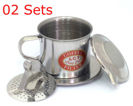 02 Sets, Size 08, Vietnam French Coffee Filter, Press Maker, Stainless S... - €7,71 EUR