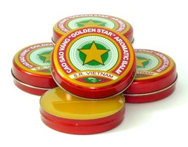 GOLDEN STAR BALM, 12 Boxes x 3 grams, Anti COLD, FLU, INSECTS BITE, Cao ... - $7.91