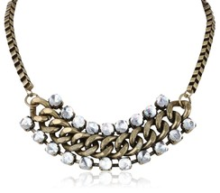 "Steve Madden Bead and Chain Toggle Necklace 18"" - $21.99"
