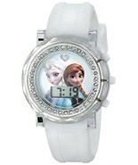 Disney Kids' FZN3579 Frozen Anna and Elsa Rhinestone-Accented Watch with... - £7.31 GBP