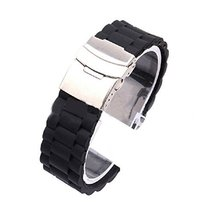 Tonsee Mens Silicone Rubber Watch Strap Band Waterproof with Deployment ... - $8.81