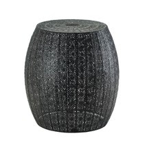 Black Moroccan Lace Stool - $79.95