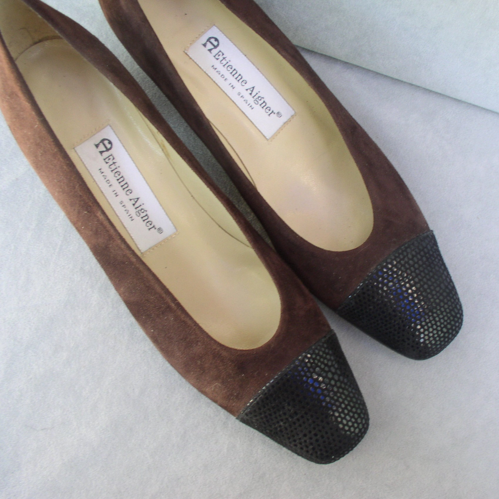 Shoes Etienne Aigner Brown Suede Size 8N